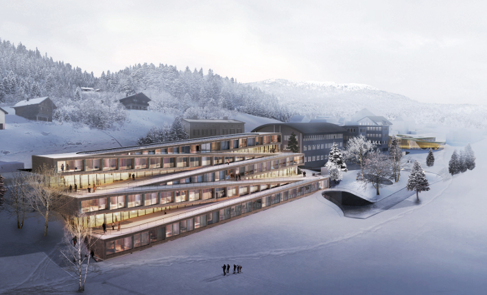 Hotel des Horlogers - all images courtesy of bjarke ingels group