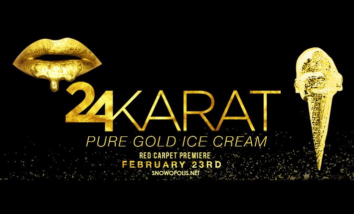 24Karat gold ice cream by Snowopolis 2