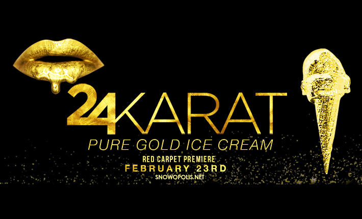 24Karat gold ice cream by Snowopolis 2