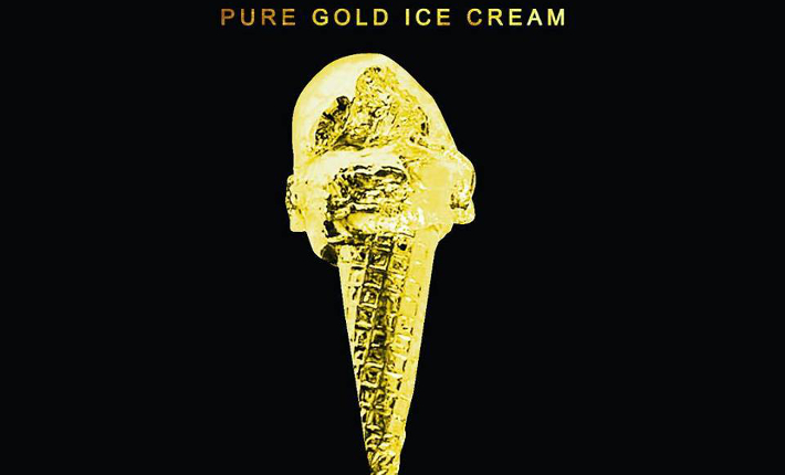 24Karat gold ice cream by Snowopolis