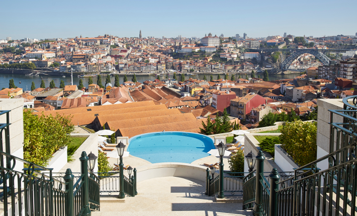 View over Porto from terrace on floor 4