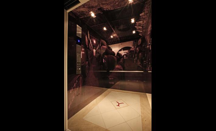 Port cellar elevator