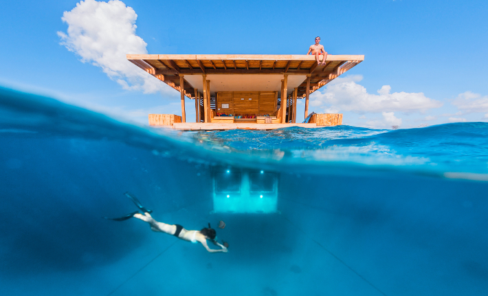 Above and under water The Manta Resort in Tanzania