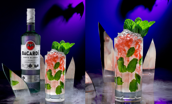 Bacardi Halloween Bat Blood Mojito
