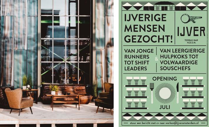 Bar Restaurant IJver op de NDSM-werf in Amsterdam