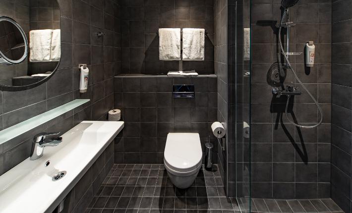 Bathroom at the Ibis Tallinn Center in Estonia