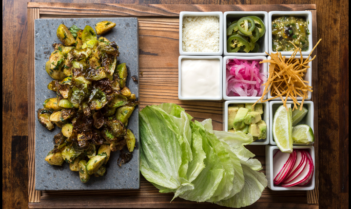 Brussels sprout taco by Dirt Candy