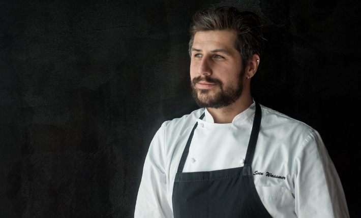 Chef Sven Wassmer at restaurant Silver