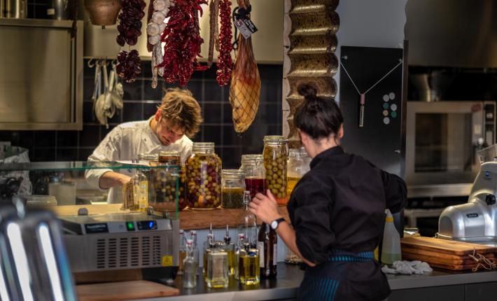 Cuarto Ocho Spaans restaurant in Willemstad.