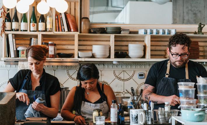 Chefs of the Wild Type salmon tasting - credits Hattie Watson