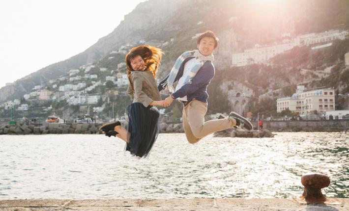 Chiara in amalfi Coast for Flytographer