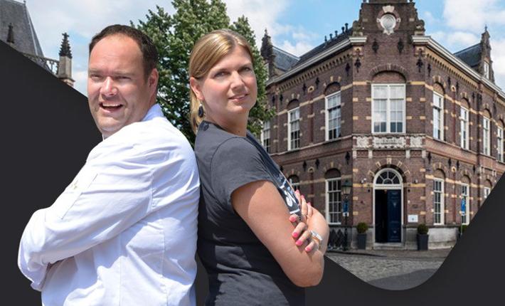 Chiel Dohmen en Johanneke van den Brink voor restaurant By Chiel