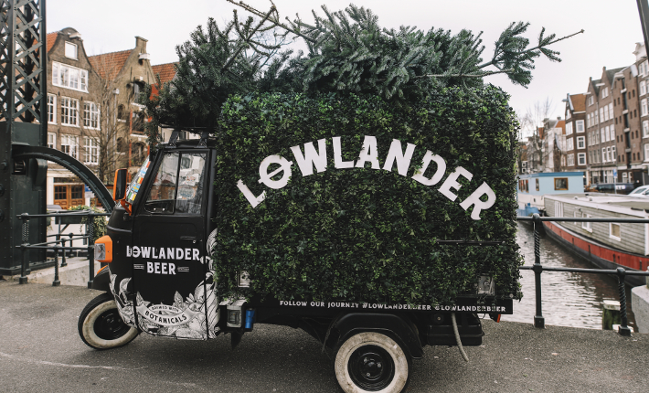 Christmas tree to table by Lowlander Beer