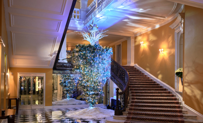Claridge's Christmas Tree 2017 by Karl Lagerfeld