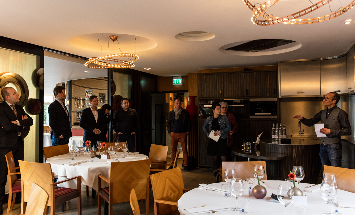 De private dining ruimte bij restaurant Parkheuvel Rotterdam