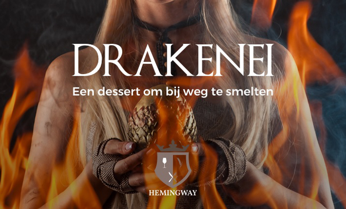 Drakenei van restaurant Hemingway in Grand Hotel en Residence De Draak