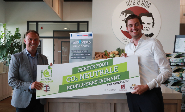 Eerste food co2 Neutrale bedrijfsrestaurant, Rob & Bob van Koppert Cress