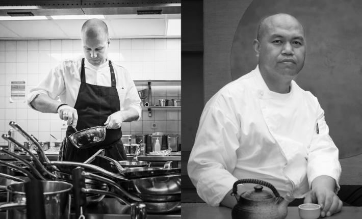 Executive Chef Waldorf Astoria Amsterdam Sidney Schutte (l)_ Executive chef WUJIE vegetarian restaurants Jason Pen (r) HT