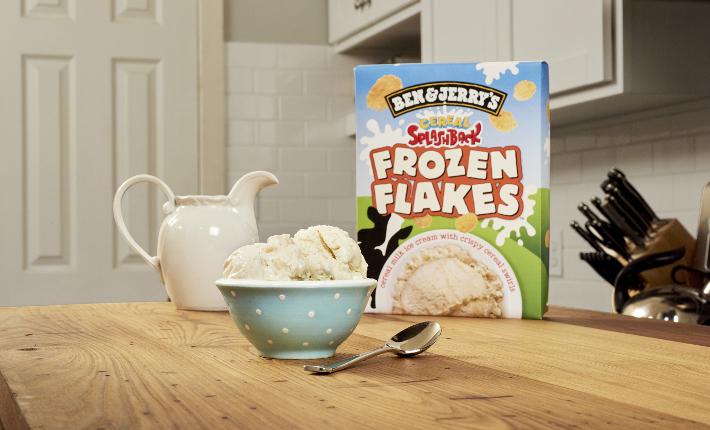 Ben & Jerry's Frozen flakes flavor