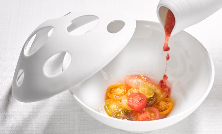 Gerecht van restaurant Bord´Eau, Tomaten - credits Rinze Vegelien