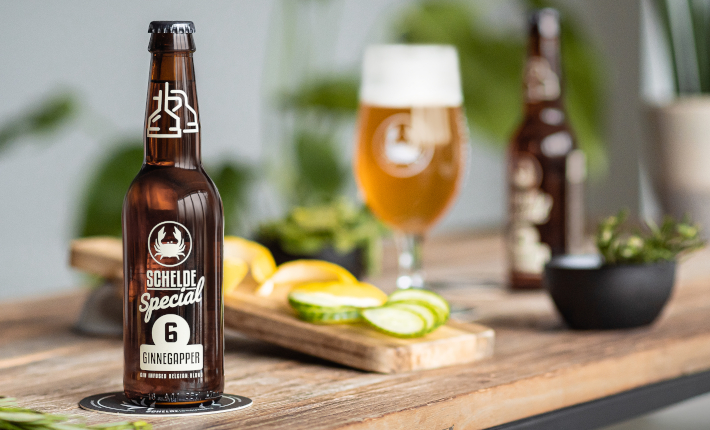 Ginnegapper - limited edition Gin infused Belgian Blond by the Scheldebrouwerij