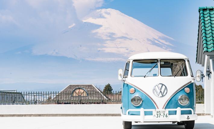 Fujino Kirameki Fuji Gotemba with Mount Fuji in the snow