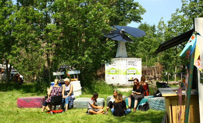 GreenBattery at the 'Welcome to the Village' festival