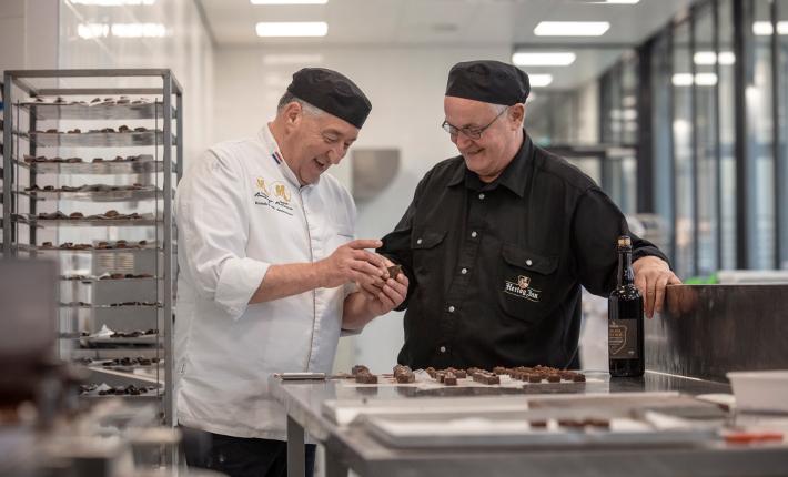 Hertog Jan Grand Prestige bonbons door Meesterpatissier Robèrt van Beckhoven