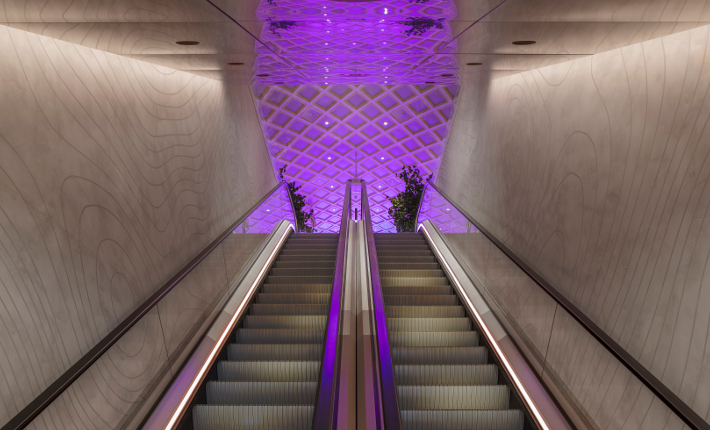 Hotel Norge the escalator - credits Wouter van der Sar for concrete