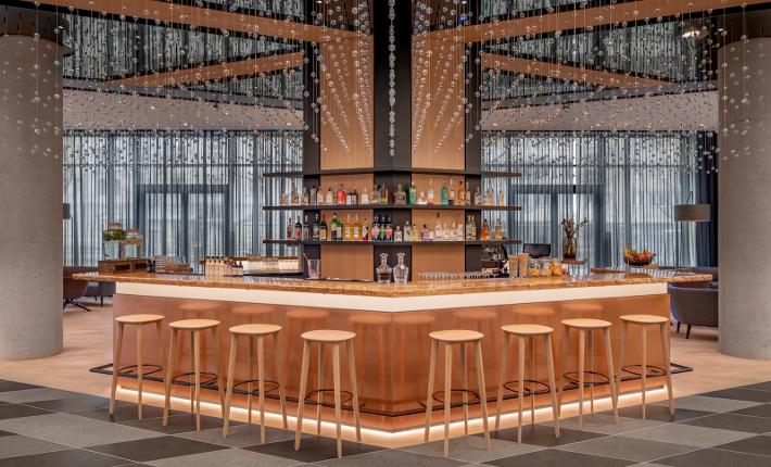 Lobbybar - Andaz hotel Munich credits Wouter van der Sar for concrete
