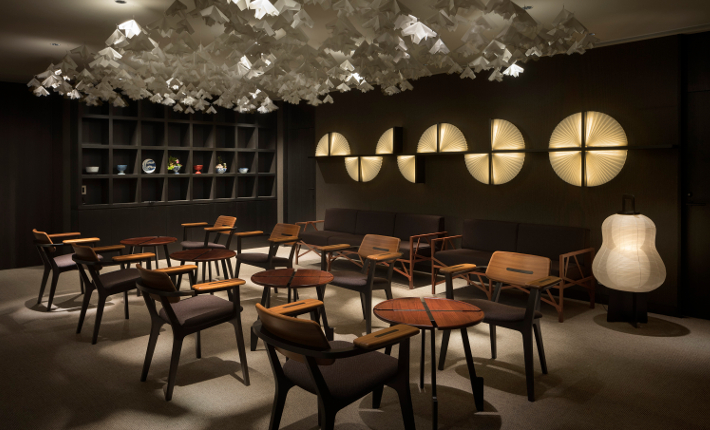 Lounge Enso Ango building Tomi ll - credits Tomooki Kengaku