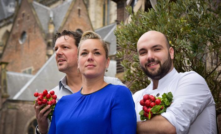 ML Haarlem V.l.n.r. Mark en Liane Gratama, Kevin Kion, credits Corina van Manen Foodlovestories