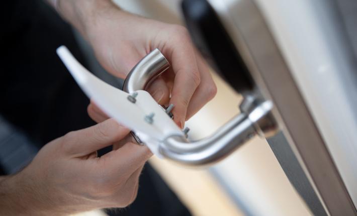Materialise's 3D printed hands-free door opener