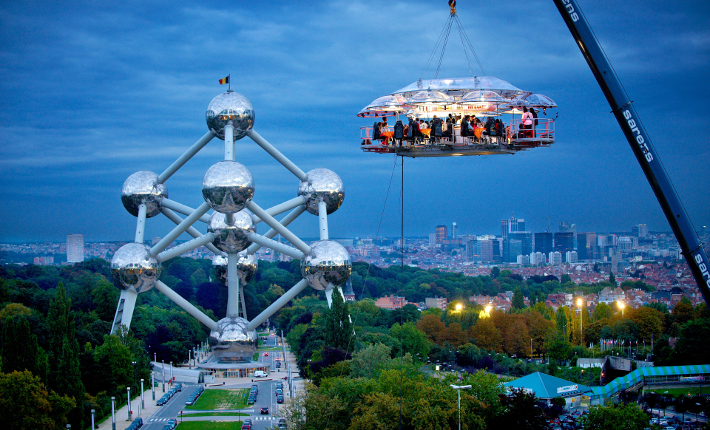 'Dinner in the Sky' Brussels