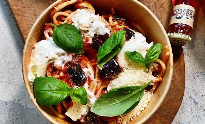 Pastabar TITO - spaghetti alla chitarra 'melanzane' aubergine