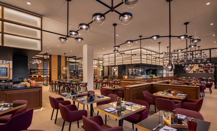 Restaurant Lonely Broccoli - Andaz hotel Munich credits Wouter van der Sar for concrete