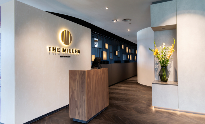 Restaurant The Millèn in het Marriott Hotel Rotterdam