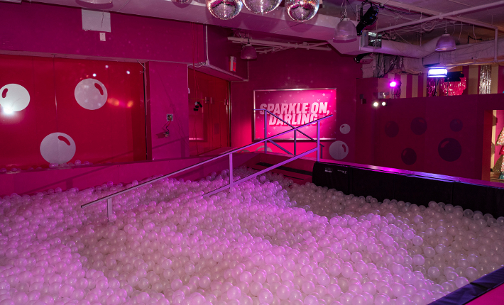 Rosé Mansion Disco Ball Pit l credits James Coletta