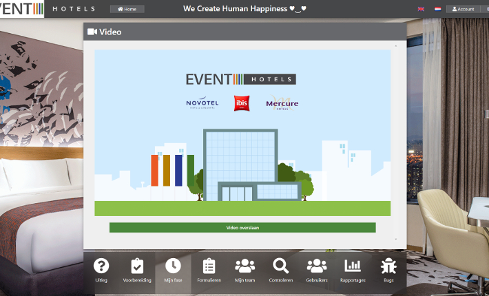 Screenshot HR Life Cycle website en app - Event Hotels