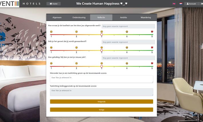 Screenshot HR Life Cycle website en app - Event Hotels