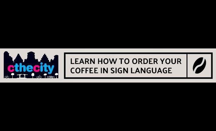 Sign language coffee bar