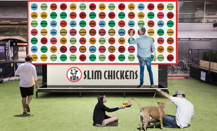 Slim Chickens dippable billboard