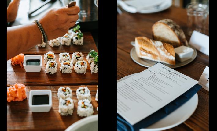 Spicy Salmon sushi rolls & menu - Credit Hattie Watson
