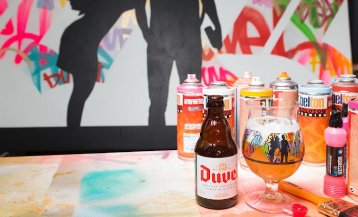 Streetartist Fake ontwerpt nieuw glas voor Duvel.