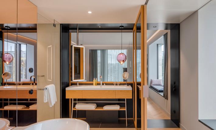 Suite Andaz hotel Munich credits Wouter van der Sar for concrete
