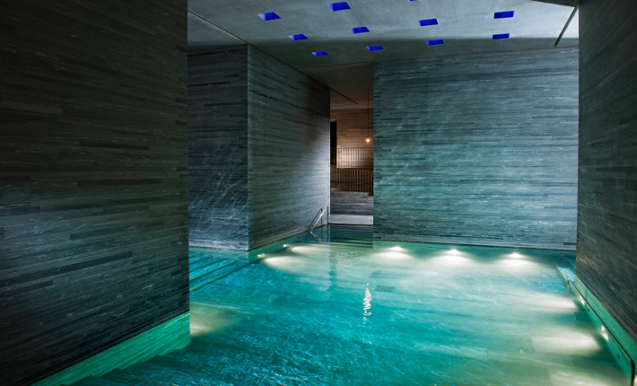 The thermal baths designed by Peter Zumthor