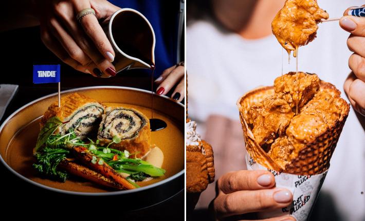 TiNDLE Wellington en Honey Butter Chicken Cone