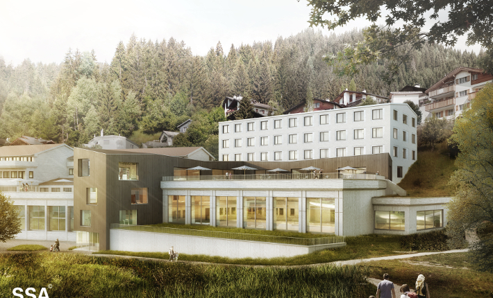 Wellness Hostel 3000 visualisation by SSA Architekten AG