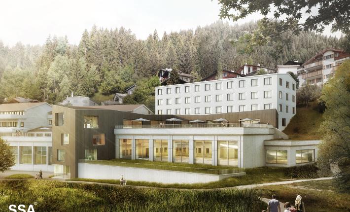 Wellness Hostel 3000 visualisation by SSA Architekten AG
