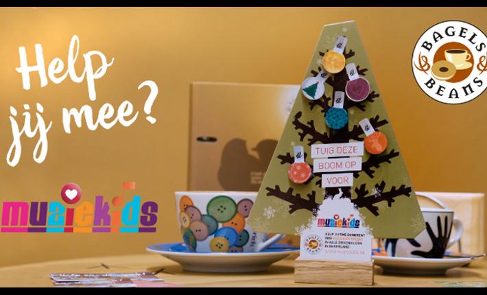 Kerstactie Bagels & Beans voor Muziekids